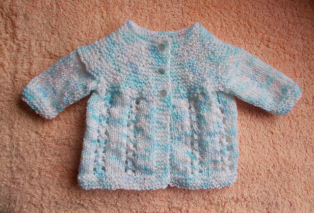 Knitting Pattern Baby Jacket : Knitting Patterns Galore - Bella Baby Jacket