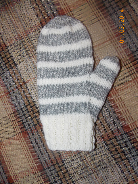Knitting Patterns Galore Winter Striped Mittens