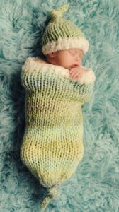 Sweet Dreams Baby Cocoon and Hat Set