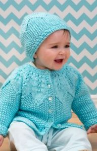 Star Bight Baby Cardigan and Hat