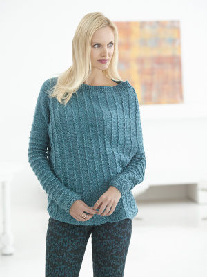 Knitting Pattern For Ribbed Sweater : Knitting Patterns Galore - Asymmetric Ribbed Sweater