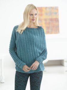 Asymmetric Ribbed Sweater