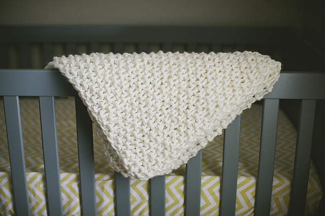 Knitting Patterns Galore Easy Chunky Baby Blanket