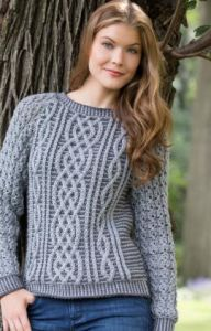 Two-Tone Cable Sweater