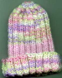 Knitting Patterns Galore Bev S Baby Ribs Hat
