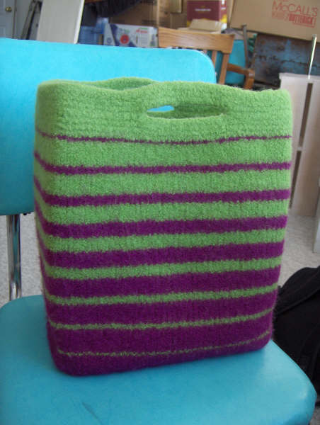 Knitting Patterns Galore Angelas Fabulous Felted Bag