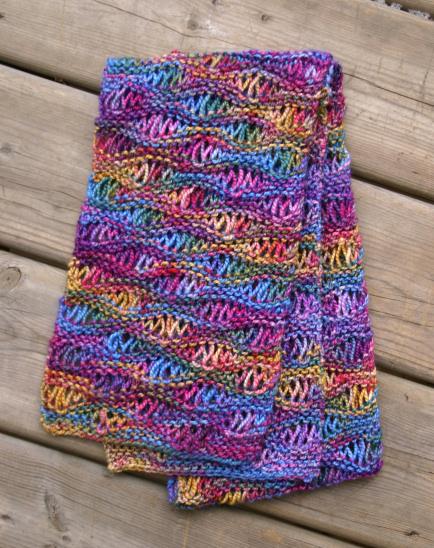 Knitting Patterns Galore Drop Stitch Scarf