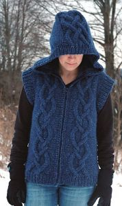Street Chic Hooded Cable Vest