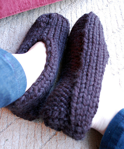 Knitting Patterns Galore - Simple Man Slippers