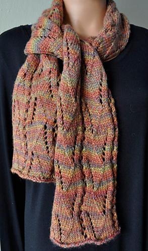 Knitting Patterns Galore Nocturne Aran Eyelet Scarf