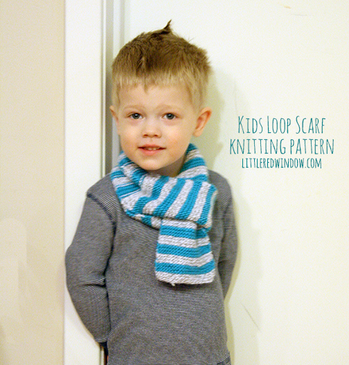 Knitting Patterns Galore Kids Loop Scarf