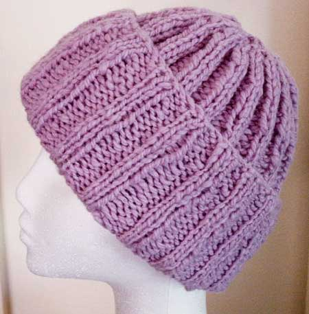 Knitting Patterns Galore Handspun Ribbed Hat