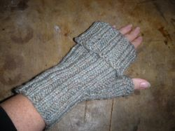 Fold Down Fingerless Mitts
