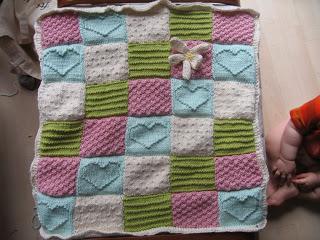 d954c0fdf336 Knitting Patterns Galore - Textured Blocks Baby Blanket