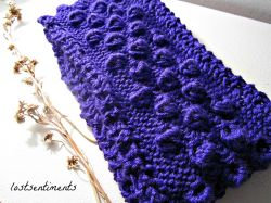 Blueberry Bobbles Infinity Scarf