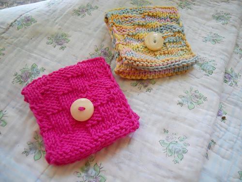 Knitting Patterns Galore - Tea Wallet