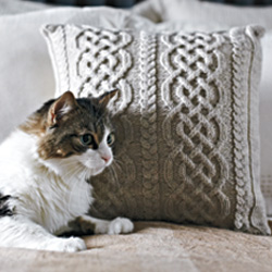 Knitting Patterns Galore Celtic Knit Aran Pillow