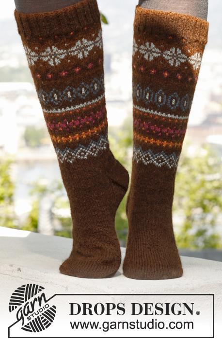 Knitting Patterns Galore Autumn Auroras Socks