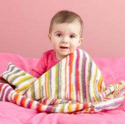 Bright Knit Baby Throw
