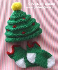 361353c26 Knitting Patterns Galore - Christmas Tree Hat & Elfin Socks