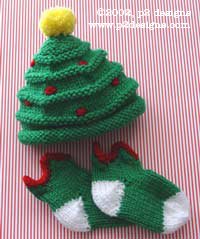 Christmas Tree Hat & Elfin Socks