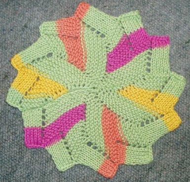 Knitting Patterns Galore - The Windmill Dishcloth