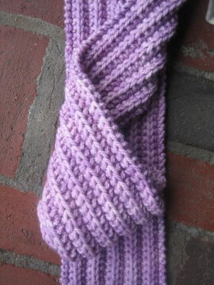 Knitting Patterns Reversible Scarves : Knitting Patterns Galore - 2 Row Reversible Scarf