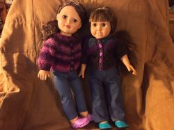 Top-Down Raglan Cardigan for 18-inch Dolls