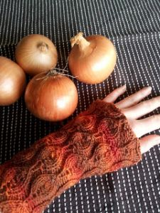 Onion Market Wrist Warmers