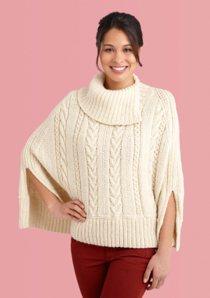 Knitting Patterns Galore - Galway Poncho