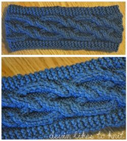 Intertwining Cabled Diamonds Headband/Ear-Warmer