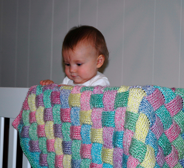 Knitting Patterns Galore Baby : Knitting Patterns Galore - Entrelac Baby Blanket