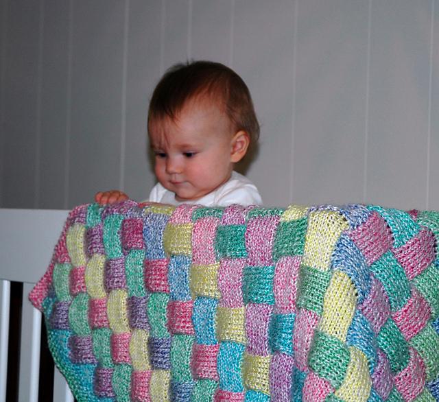 Knitting Patterns Galore Entrelac Baby Blanket