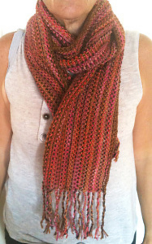 Knitting Patterns Galore - Scrap Couture Linen Stitch Scarf