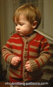 Child's Top-Down Seamless Cardigan with Set-In Sleeves
