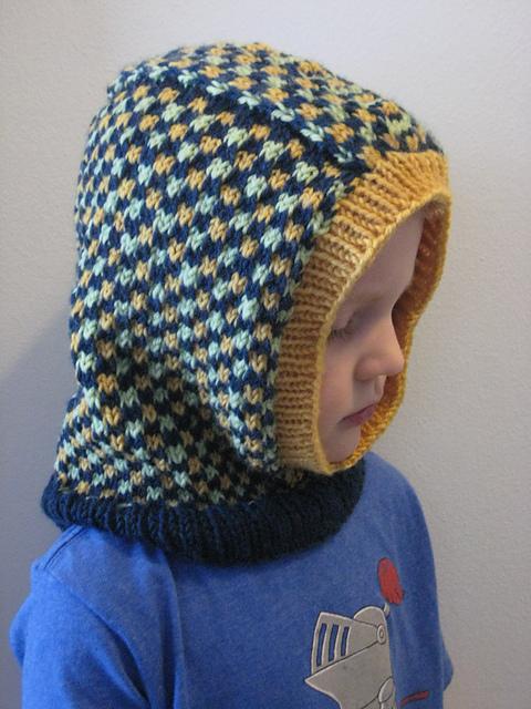 Knitting Patterns Galore Kids Dice Check Balaclava