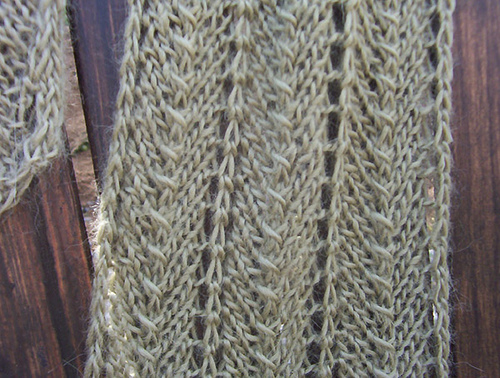 Knitting Patterns Galore Cream Of Spinach Scarf