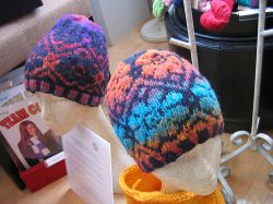 Noro Fair-Isle Flower Hat