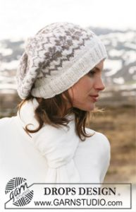 Basque Hat with Norwegian Pattern