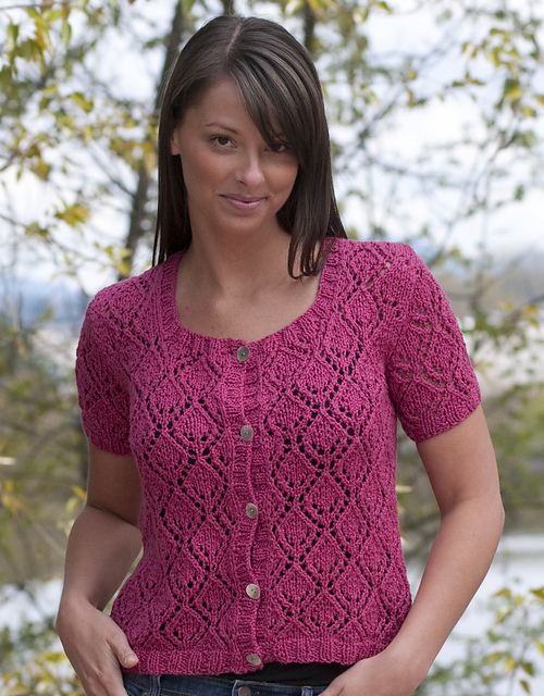 Lace Sweater Knitting Patterns : Knitting Patterns Galore - All Over Lace Cardigan