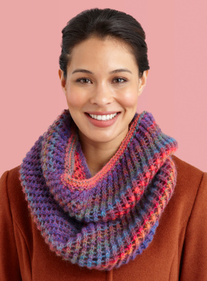 Knitting Patterns Galore Diagonal Eyelet Cowl
