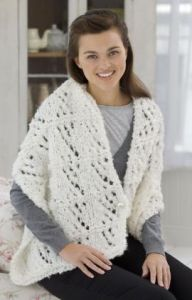 Knit Hourglass Wrap