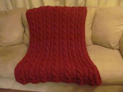 Cabled Throw Blanket