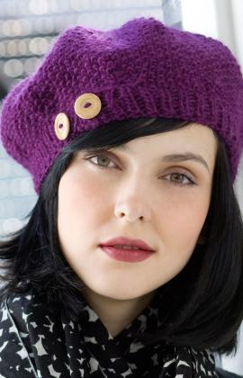 f31adc0317b6e Knitting Patterns Galore - Buttoned Beret