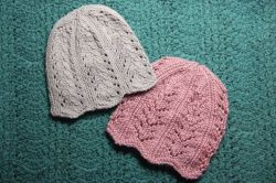 Ribbing and Lacy Chemo Caps