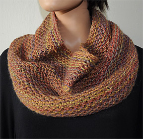 Knitting Patterns Galore - Waffle Cowl