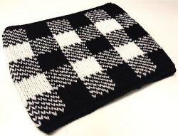 Gingham Neck Warmer in Double Knit