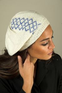 Duplicate Stitch Argyle Beret for the Family