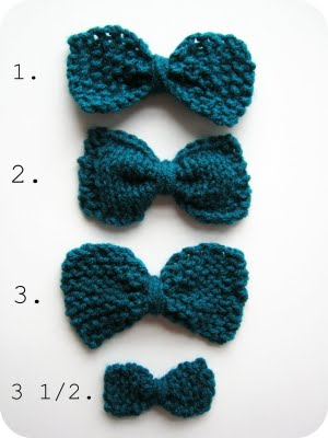 Knitting Patterns Galore 3 12 Ways To Knit A Bow