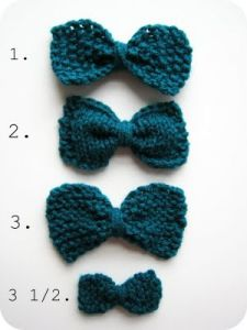 3 1/2 Ways to Knit a Bow